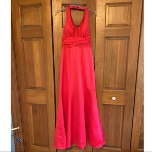 Alfred Angelo size 8 halter dress in pomegranate